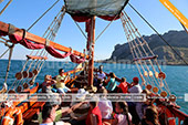 Виды на морской прогулке на нащей экскурсии из Феодосии