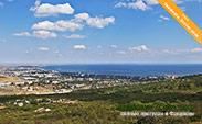Вид на Феодосию с маршрута конных прогулок в Крыму