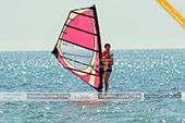 Ученик школы виндсерфинга Wild Beach в Феодосии