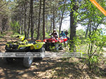 Маршрут квадрациклов через лес