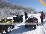 Зимние прогулки на квадрациклах в Феодосии