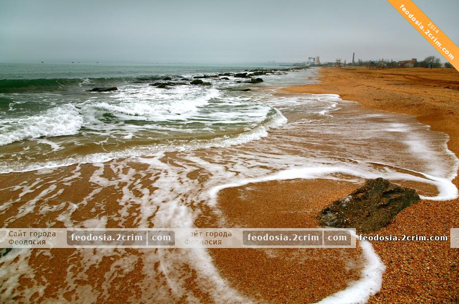 """Пляж пансионата """"Украина"""", Феодосия"""