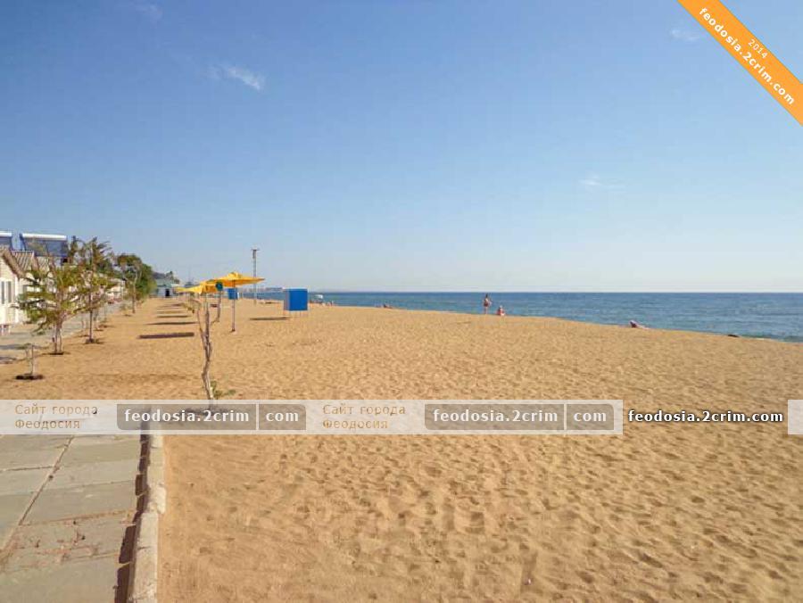 Пляж турбазы «Золотой пляж», Феодосия