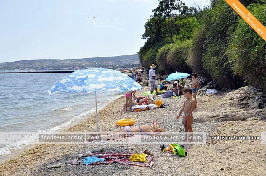 Пляж «Суворинские Камни», Феодосия