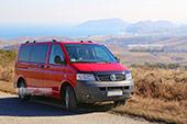 Такси Transporter T5 в большой Феодосии и Экскурсии по Крыму
