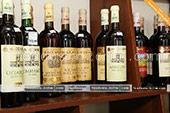 Большой выбор вин Массандры в винном магазине в Феодосии